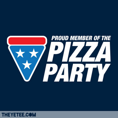 the yetee the pizza party