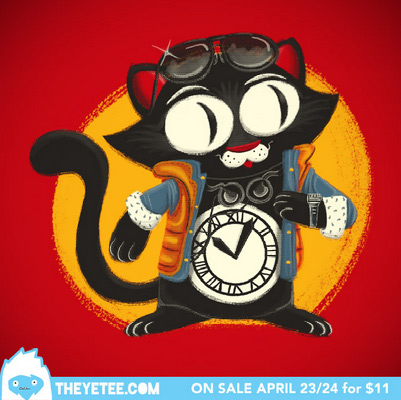 the yetee time-cat