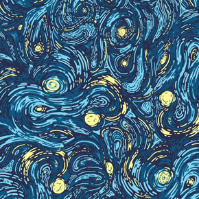 threadless starry pattern