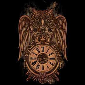 design by humans steampunk owl