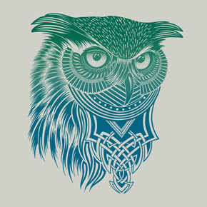 design by humans warrior owl