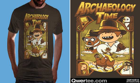 qwertee archeology time