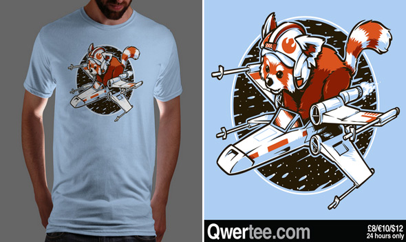 qwertee red panda standing by
