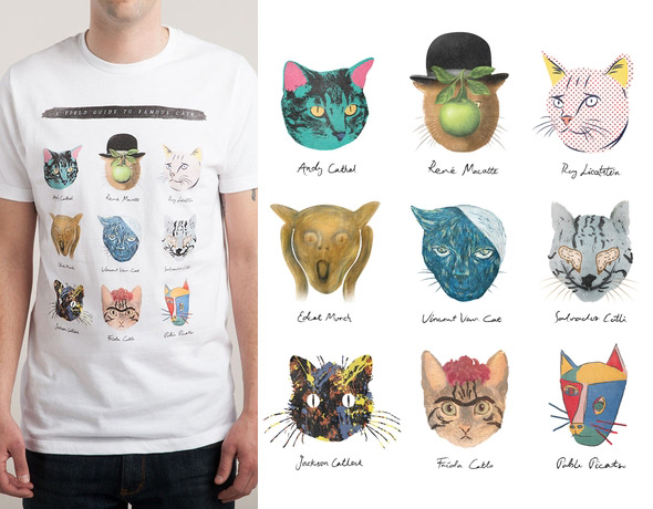 threadless art and meow