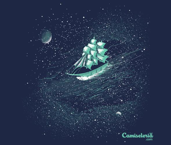 camiseteria space ship