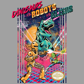 threadless dinosaurs vs robots vs aliens