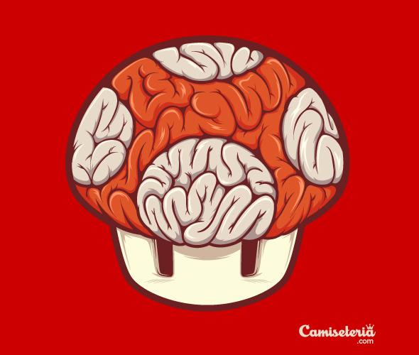 camiseteria mushroom brain