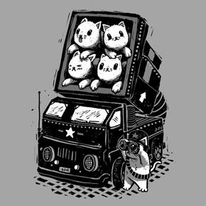 threadless rocket cats