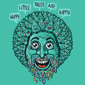 threadless happy little trees are happy