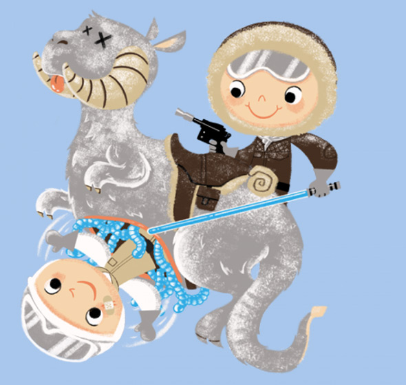 teefury the warm little tauntaun