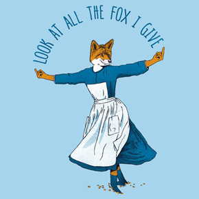 threadless look at all the fox i give