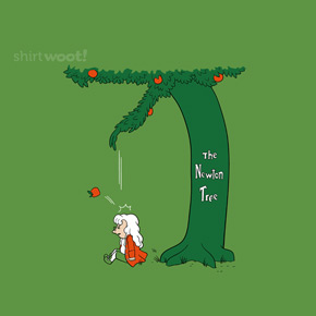 shirt.woot the newton tree