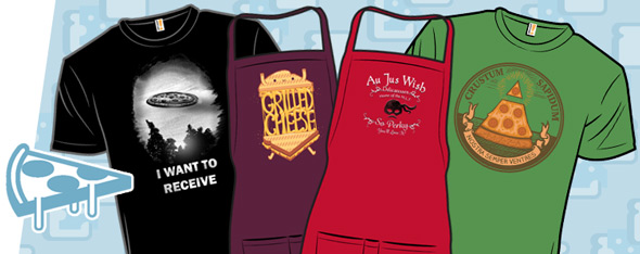 shirt.woot sandwich aprons and pizza tees