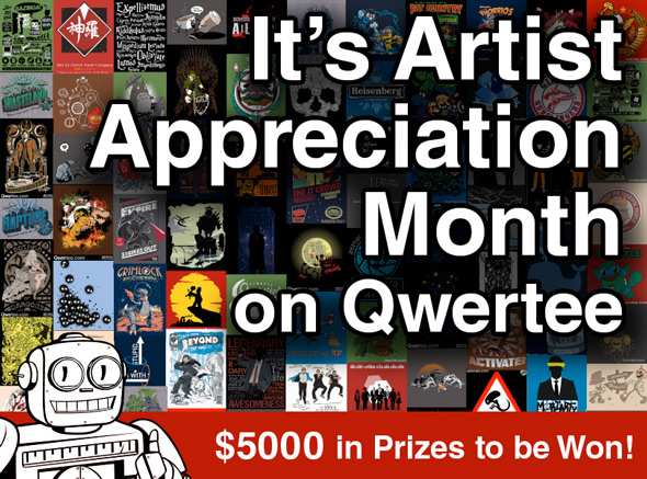 qwertee artist appreciation month 2015