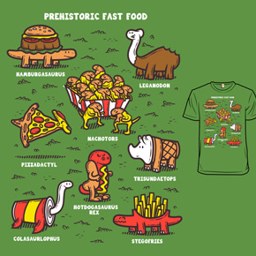 shirt.woot prehistoric fast food
