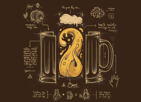 threadless le beer elixir of life