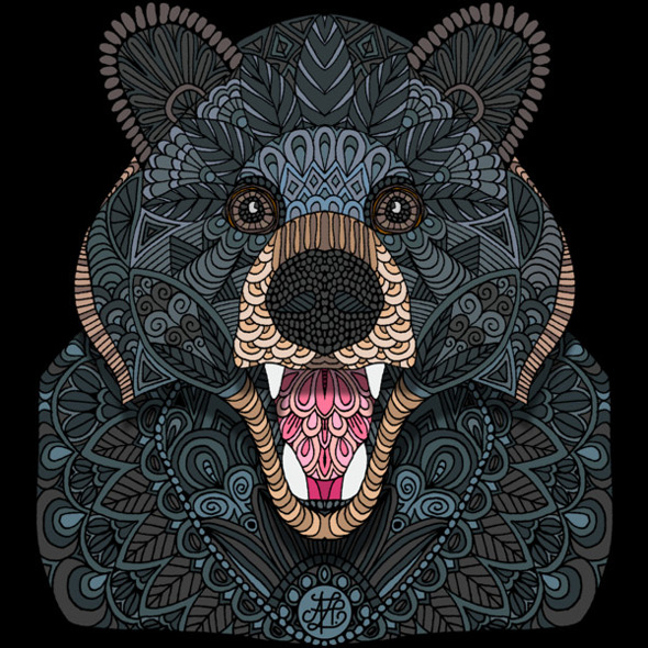 design by humans ornate black bear