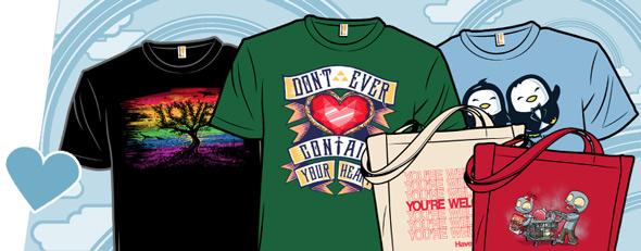 shirt.woot shopping totes and love tees