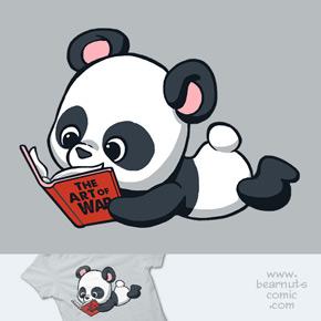 shirt.woot panda loves reading