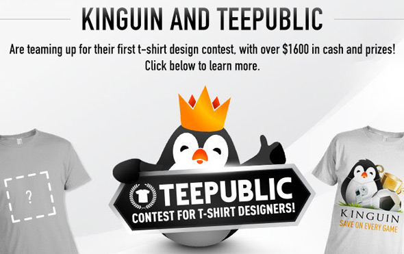 teepublic kinguin contest