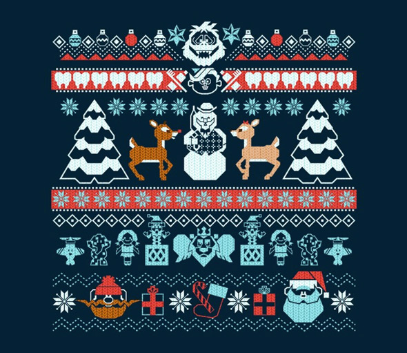 teefury the island of misfit sweaters