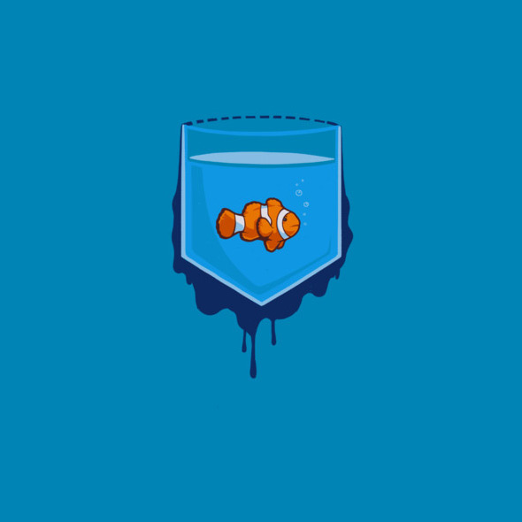 design by humans pocket fish