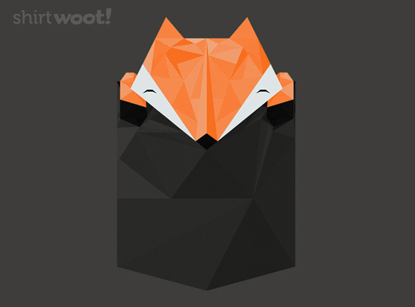 shirt.woot low poly pocket fox