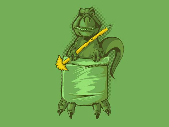 shirt.woot pocket dinosaur