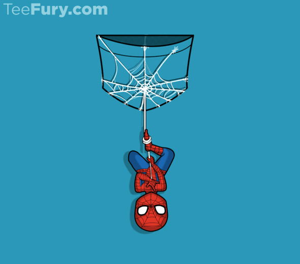 teefury pocket spidey