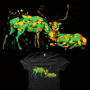 shirt.woot camouflage deers