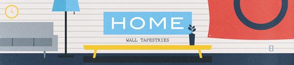 threadless home wall tapestries