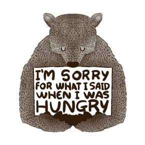 threadless i'm sorry for what i said when i was hungry