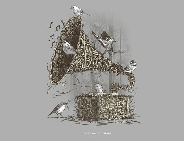 camiseteria the sound of nature