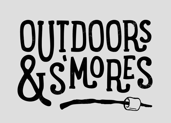 threadless outdoors and s'mores
