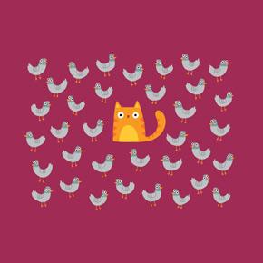 threadless cat among the pigeons